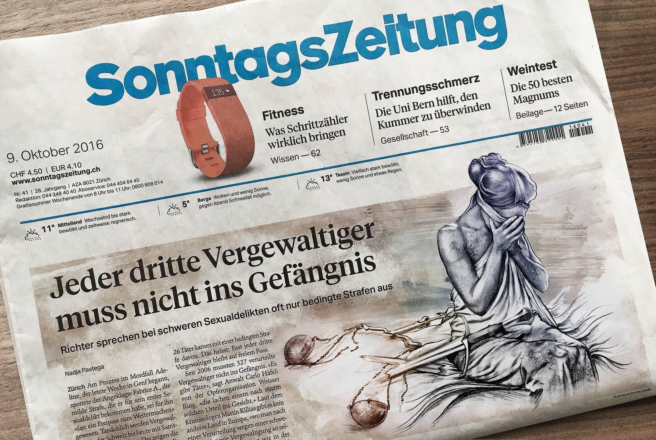 Justitia versagt cover illustration - Kornel Illustration | Kornel Stadler portfolio