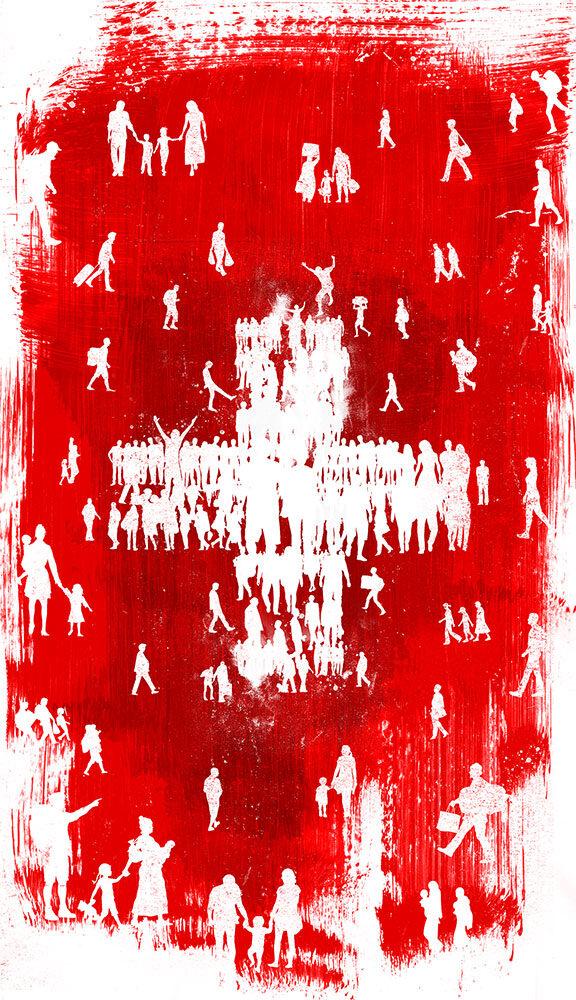 Einwanderung Schweiz - Kornel Illustration   Kornel Stadler portfolio