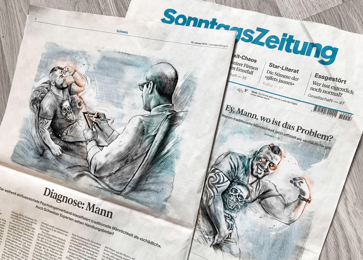Mann 1 - Kornel Illustration | Kornel Stadler portfolio