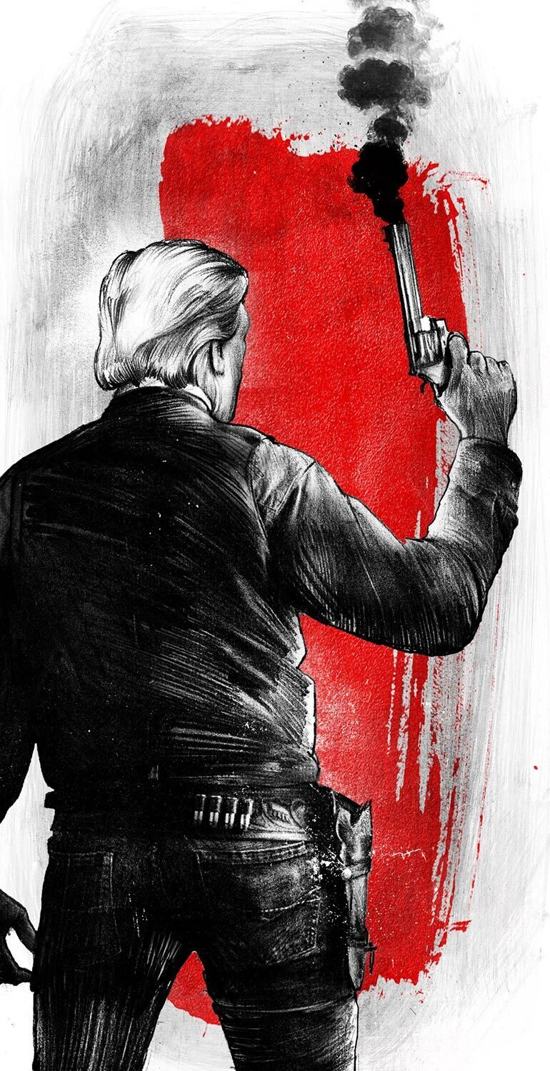 Donald Trump cowboy sheriff colt back illustration - Kornel Illustration | Kornel Stadler portfolio