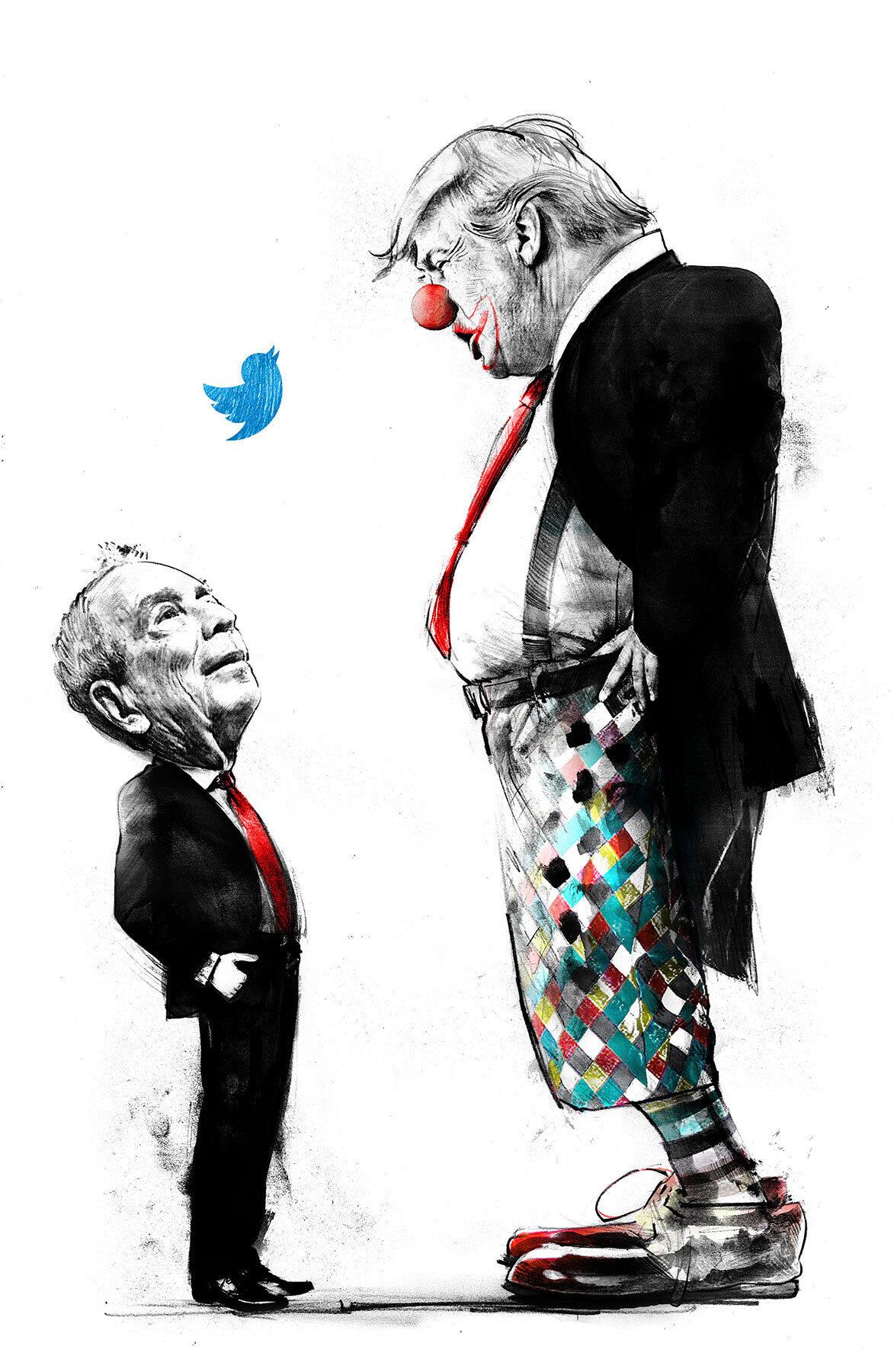 Twitter beef trump - Kornel Illustration | Kornel Stadler portfolio
