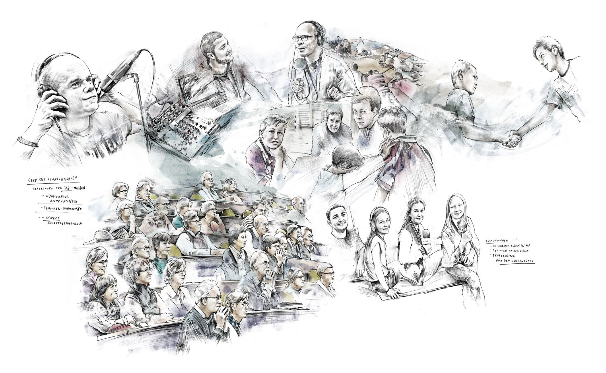 Reportage - Kornel Illustration | Kornel Stadler portfolio