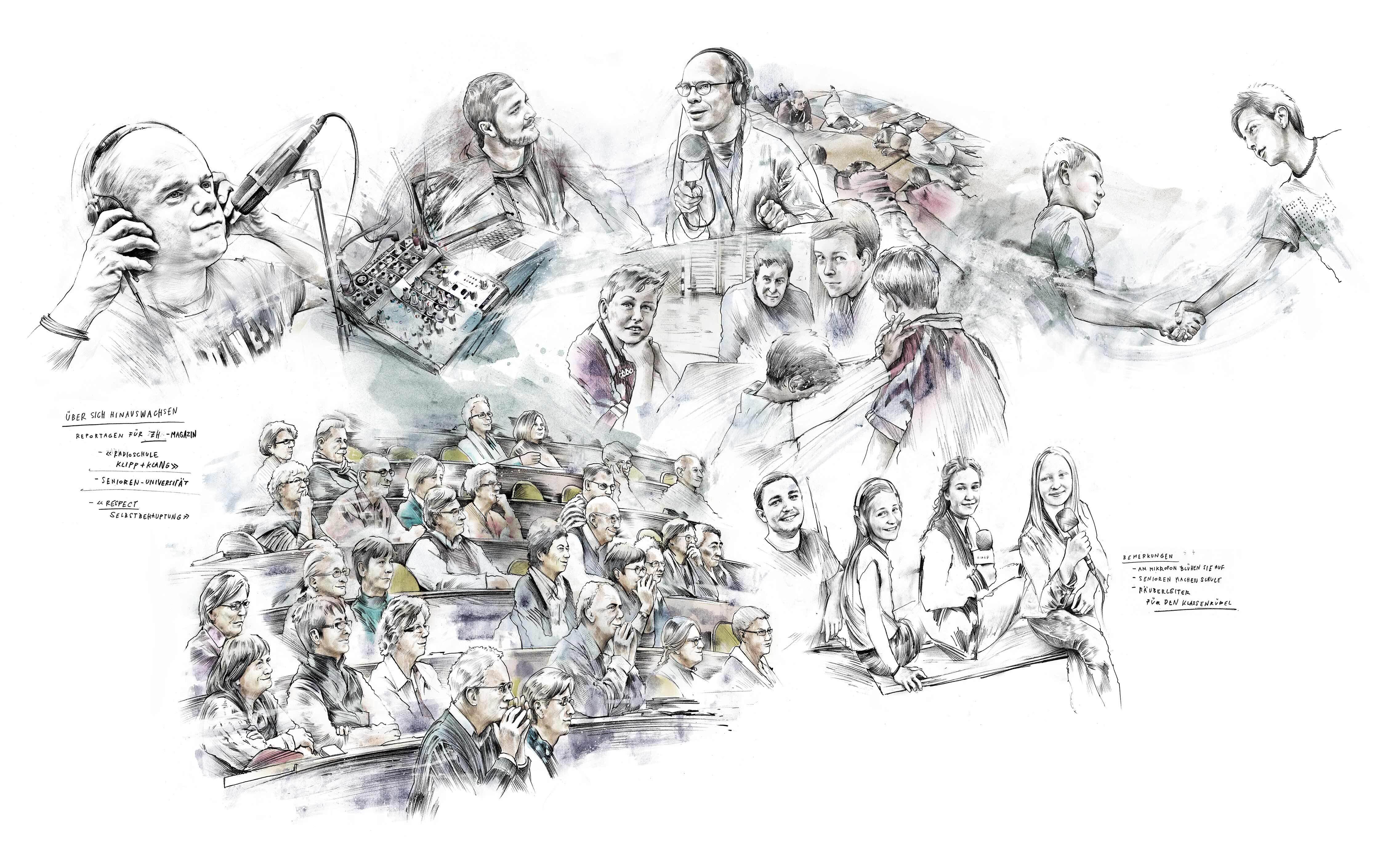 Reportage zeichnung skizze - Kornel Illustration   Kornel Stadler portfolio