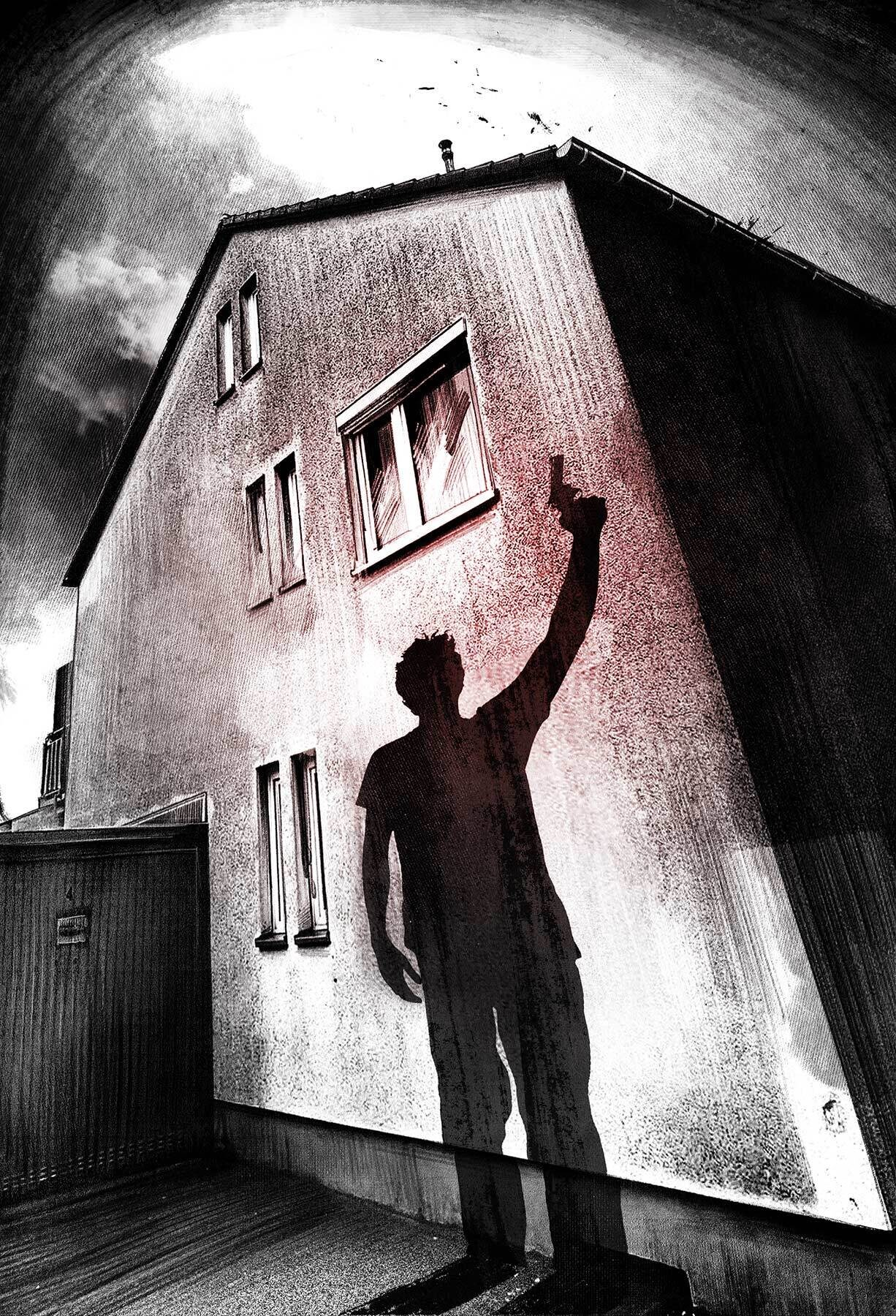 Crime scene shadow illustration - Kornel Illustration | Kornel Stadler portfolio