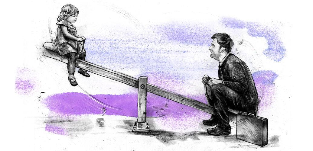 Vaterschaftsurlaub - Kornel Illustration | Kornel Stadler portfolio