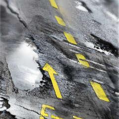 Work Veloweg fahrrad wueste asphalt strasse illustration Kornel Illustration | Kornel Stadler