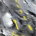 Client Arbeit Veloweg fahrrad wueste asphalt strasse illustration Kornel Illustration | Kornel Stadler