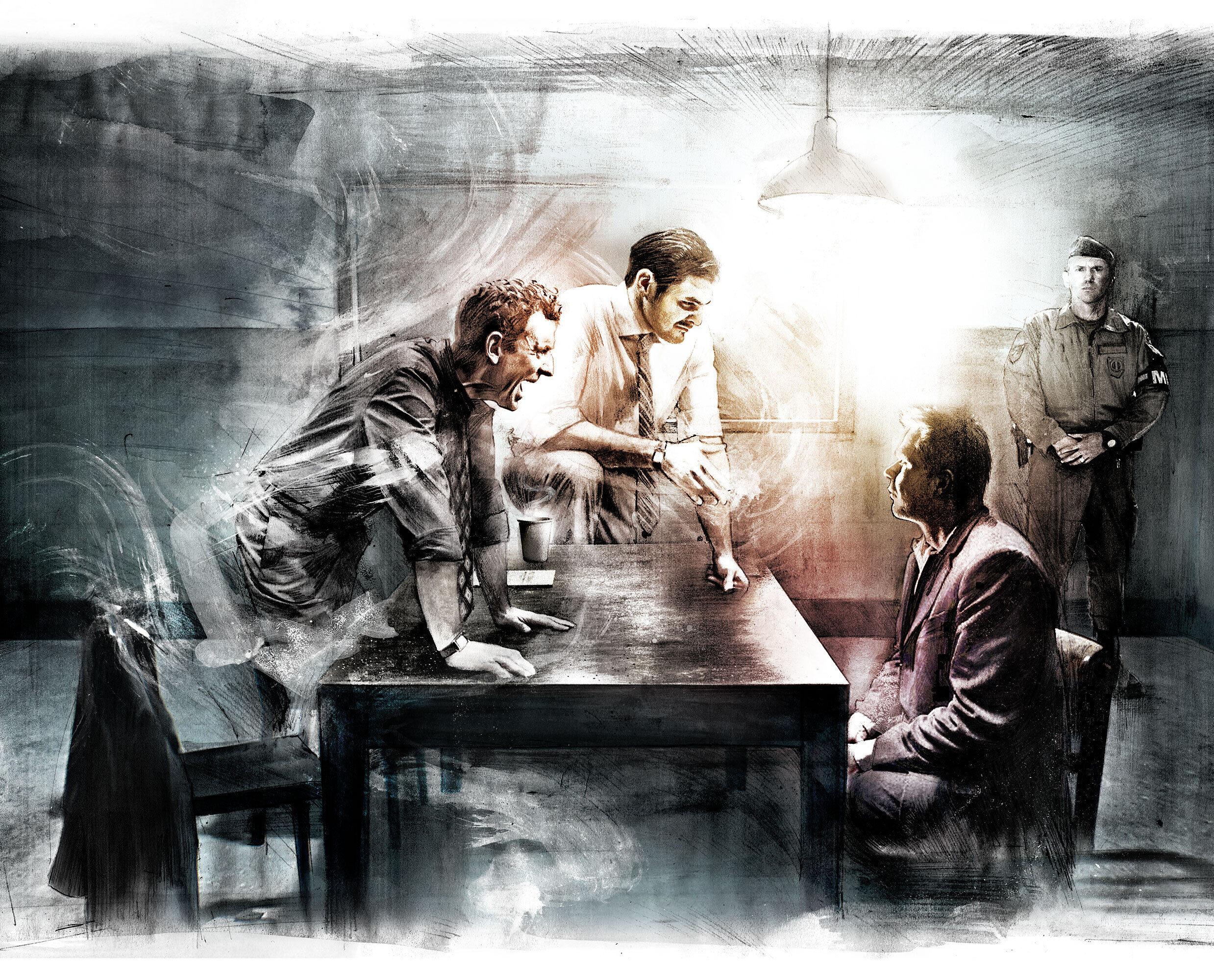 Interrogation Illustration - Kornel Illustration   Kornel Stadler portfolio