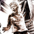 Client Arbeit Vom Nachbarschaftsstreit Hausdurchsuchung bohrmaschine einbrecher robbery burglary camera kamera atrappe illustration action scene Kornel Illustration | Kornel Stadler
