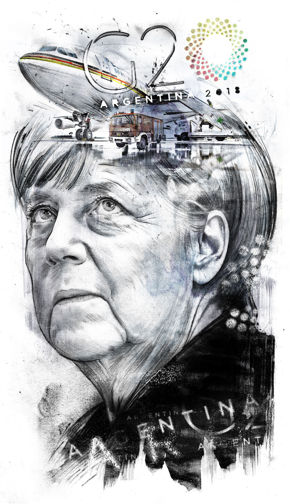 G 20 Merkel editorial illustration - Kornel Illustration | Kornel Stadler portfolio