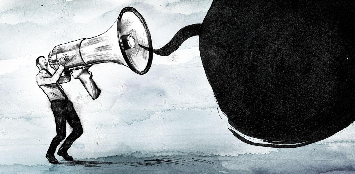 Megaphon - Kornel Illustration | Kornel Stadler portfolio