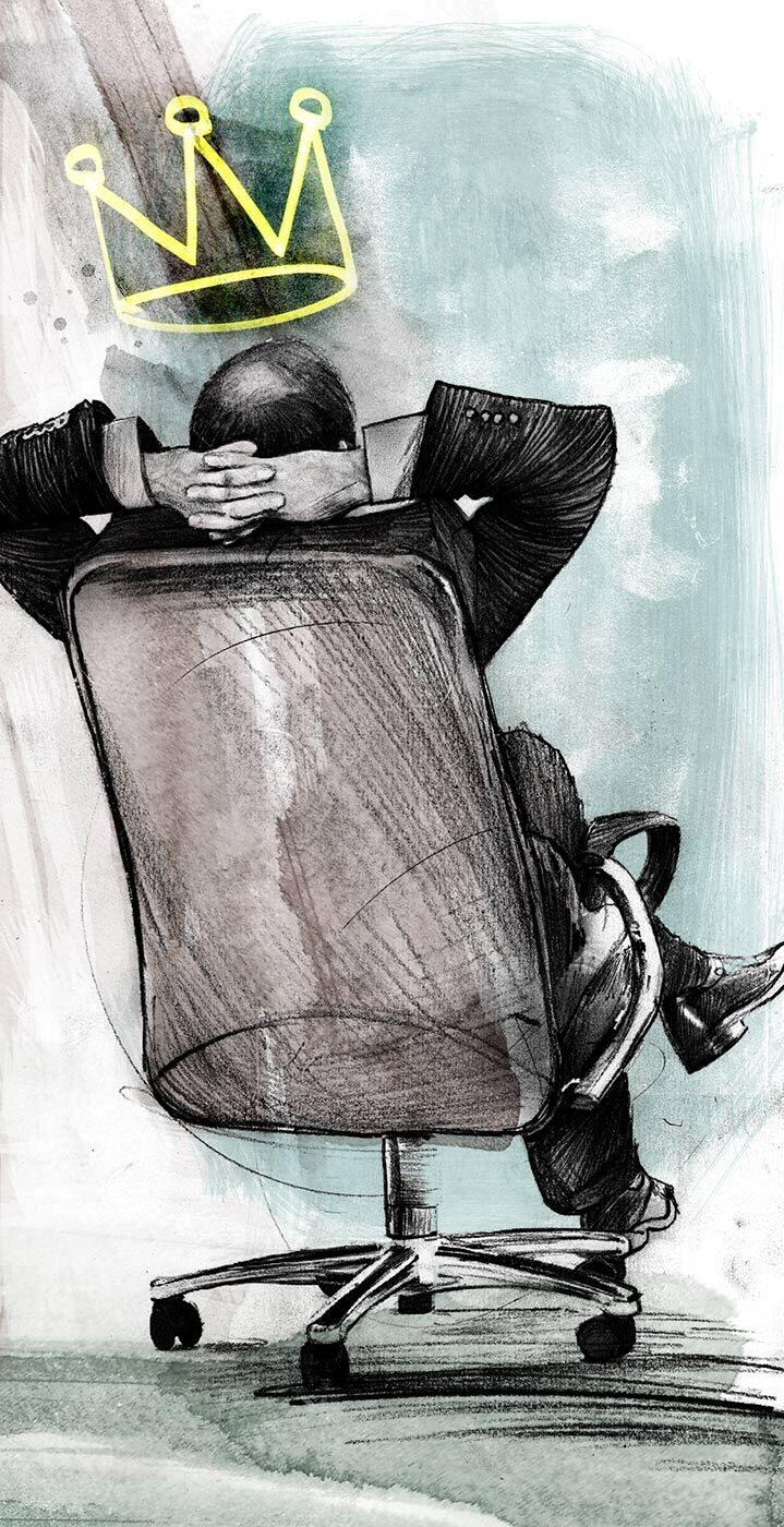 CEO Krone Maneger illustration - Kornel Illustration   Kornel Stadler portfolio