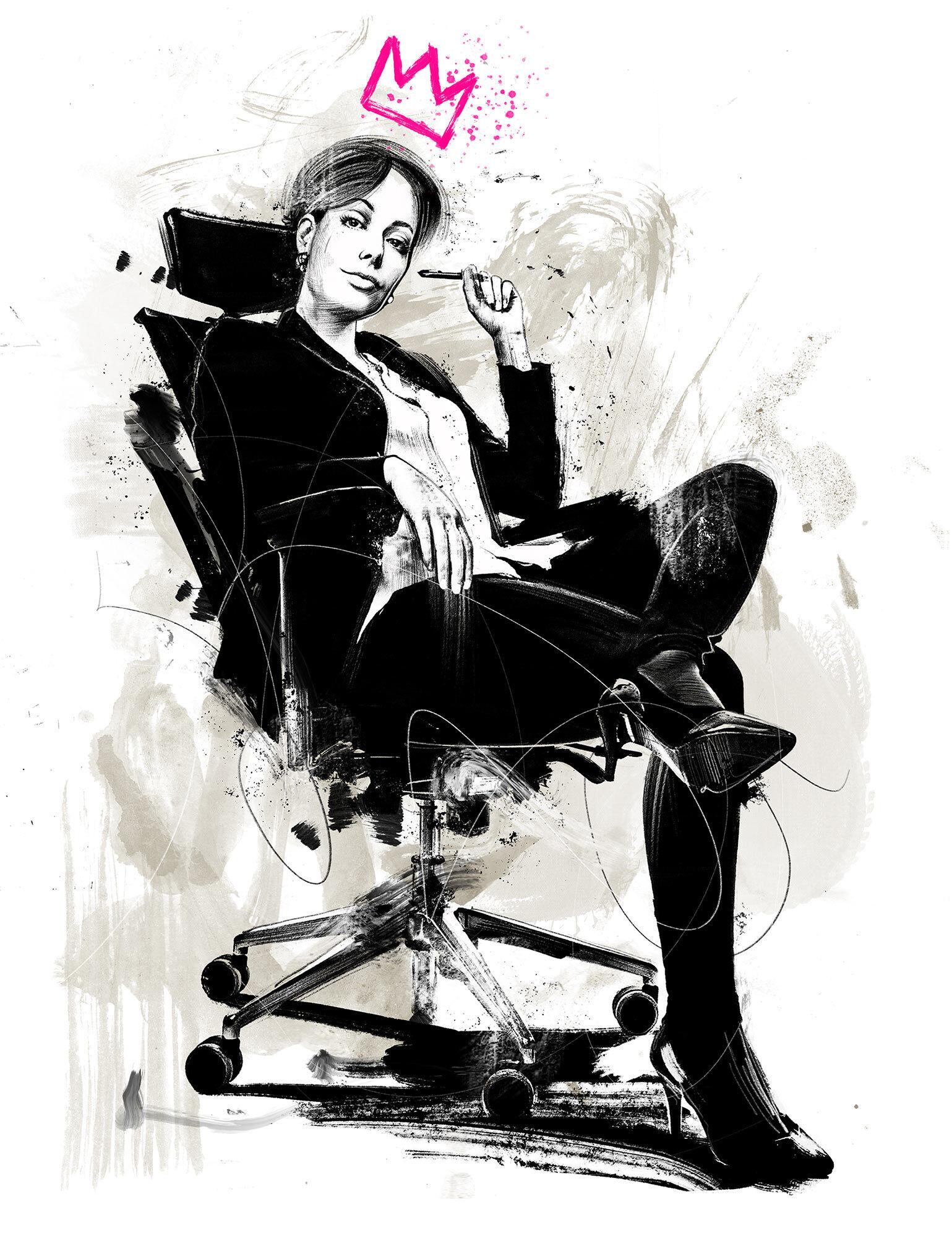 Women power boss business chief king illustration - Kornel Illustration   Kornel Stadler portfolio