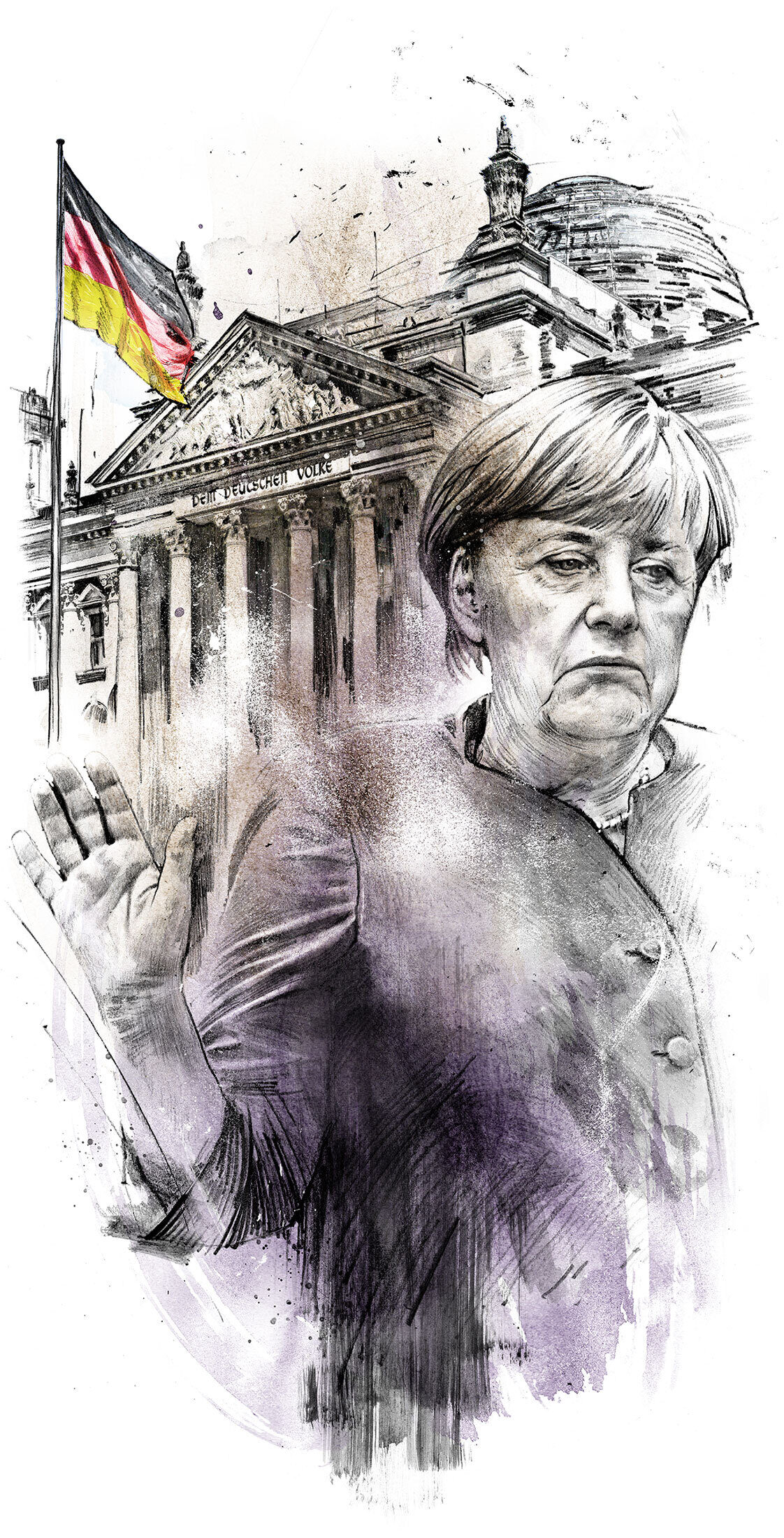 Angela Merkel Bundestag Illustration - Kornel Illustration | Kornel Stadler portfolio