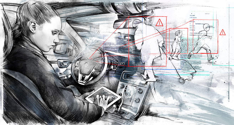 Selbstfahrende Autos - Kornel Illustration   Kornel Stadler portfolio