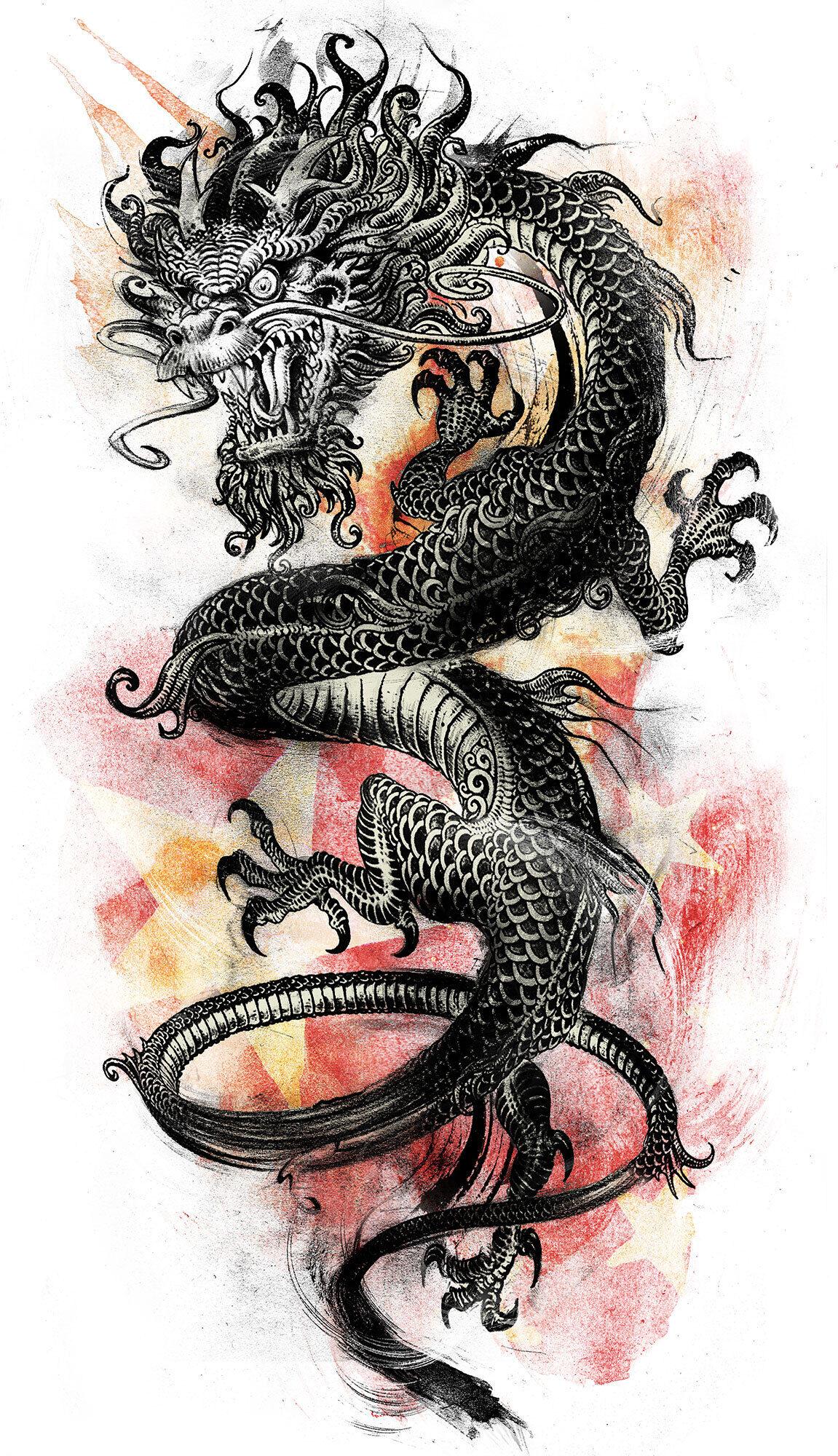 Chinese dragon - Kornel Illustration | Kornel Stadler portfolio