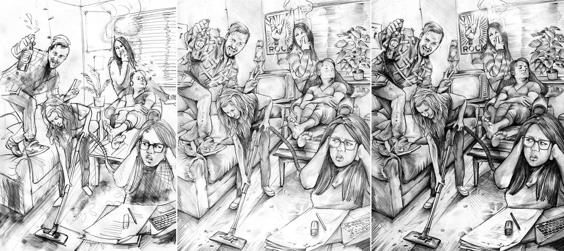 WG Skizze - Kornel Illustration | Kornel Stadler portfolio