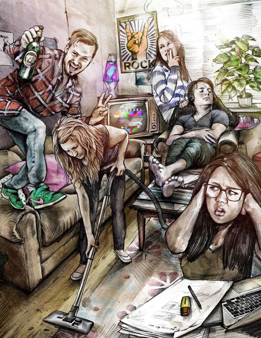 WG Szene1 - Kornel Illustration | Kornel Stadler portfolio