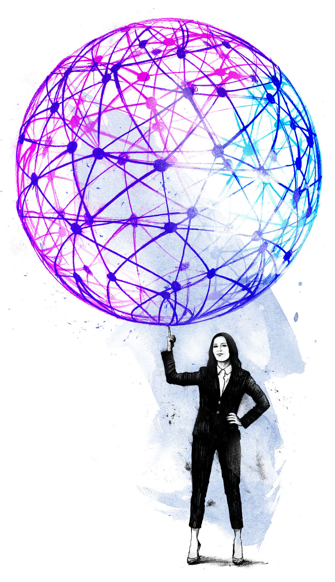 Women networking - Kornel Illustration | Kornel Stadler portfolio