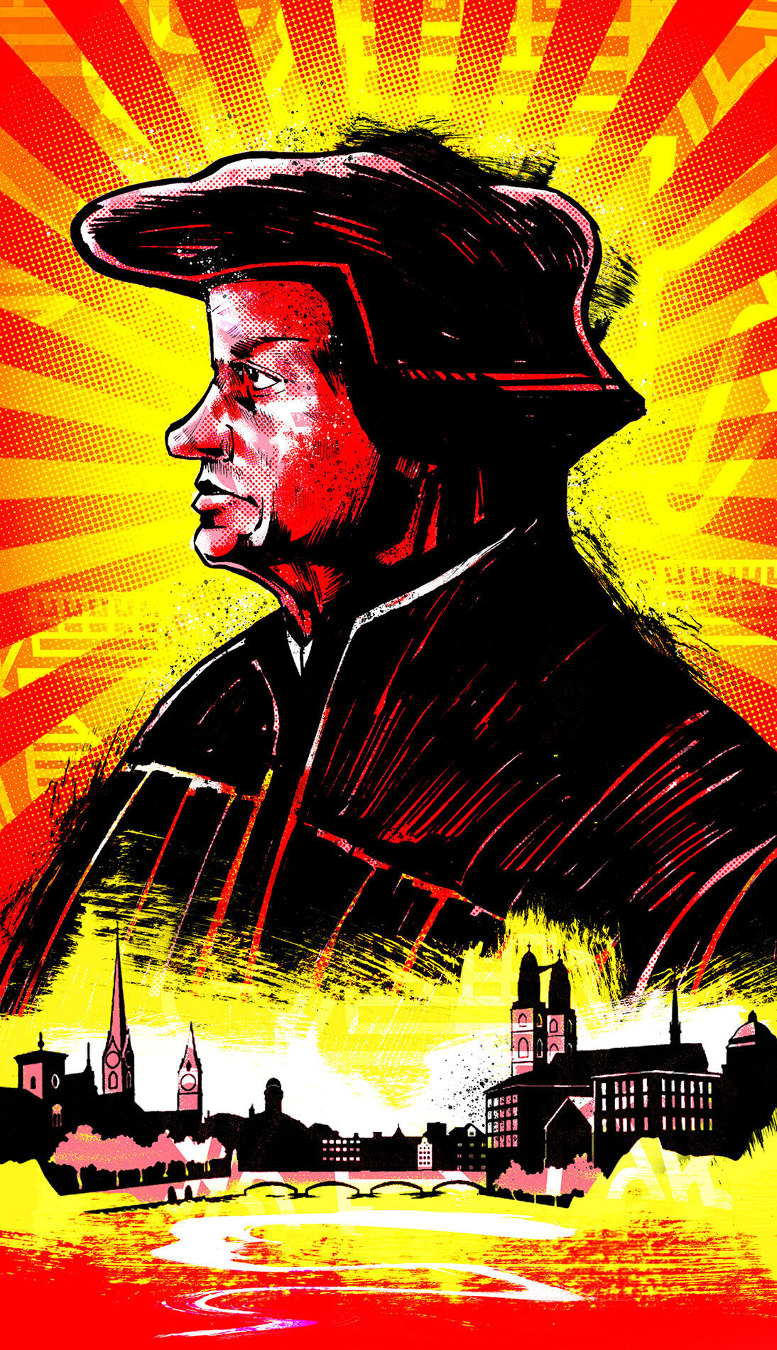 Zwingli Zuerich Illustration - Kornel Illustration | Kornel Stadler portfolio
