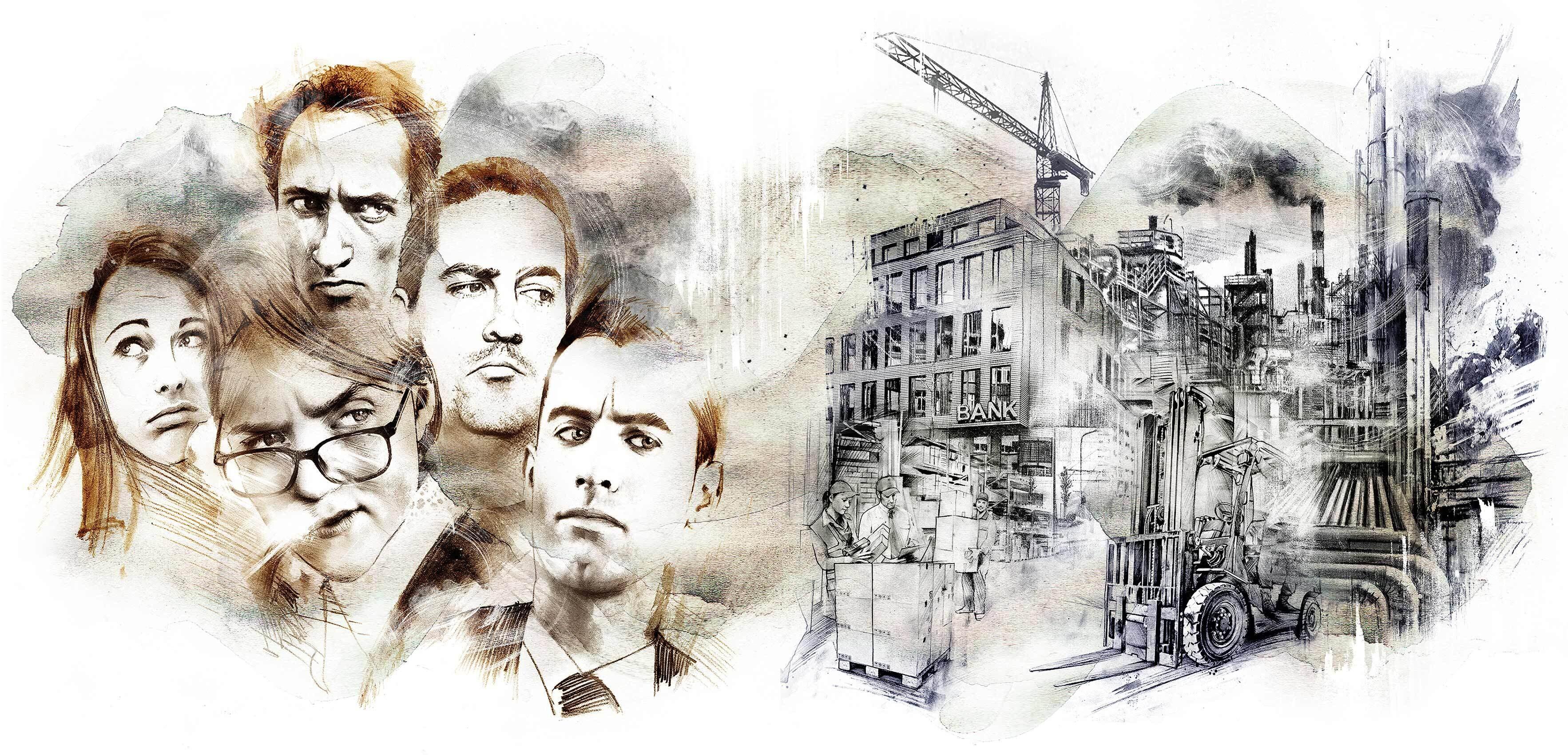 Economy mistrust - Kornel Illustration | Kornel Stadler portfolio