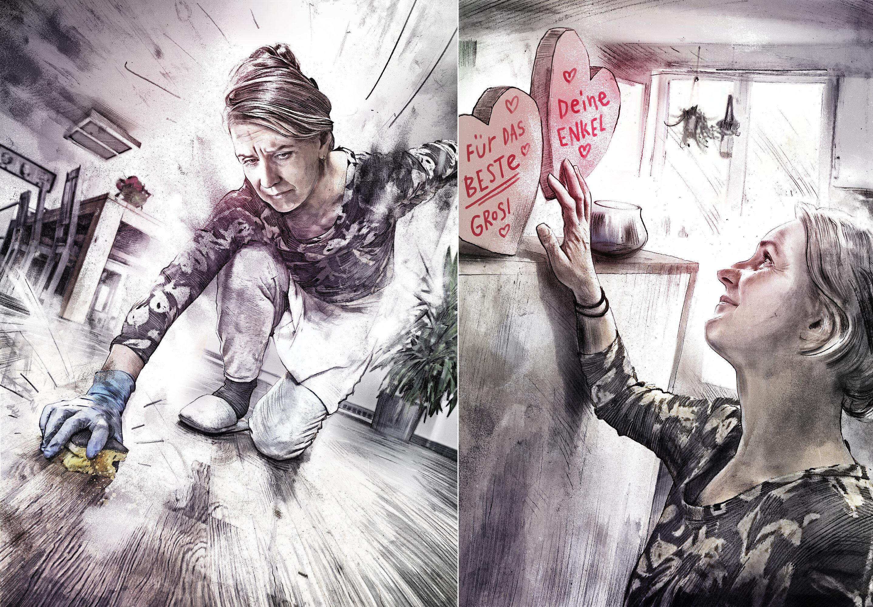 Putzfrau - Kornel Illustration | Kornel Stadler portfolio