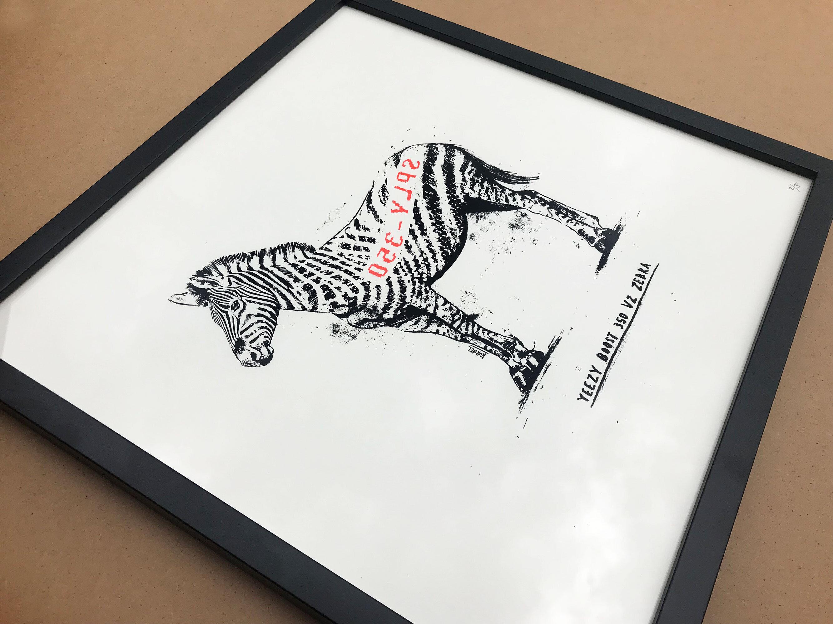Yeezy Zebra Artwork - Kornel Illustration | Kornel Stadler portfolio