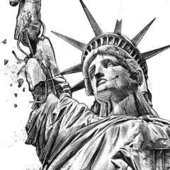 Work Decay Statue of Liberty Kornel Illustration | Kornel Stadler