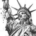Client Arbeit Decay Statue of Liberty Kornel Illustration | Kornel Stadler