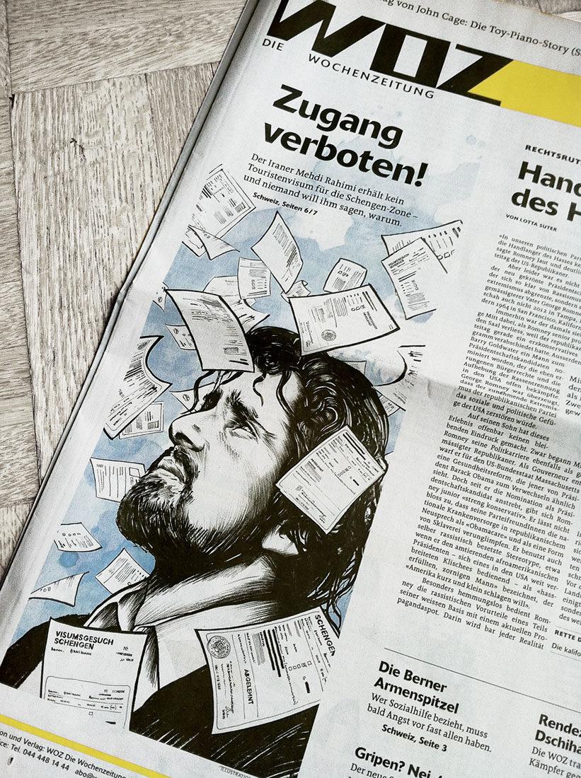 WOZ Tilel Foto - Kornel Illustration   Kornel Stadler portfolio